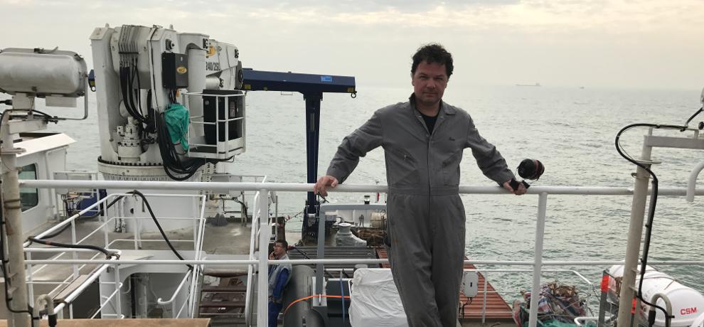 Glosten engineer during sea trials
