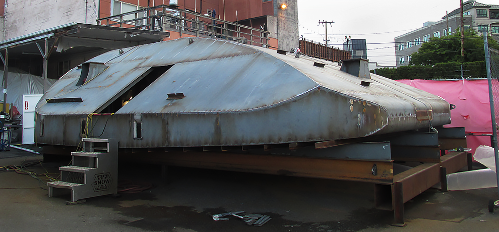 Triton-C hull under construction at Snow & Company